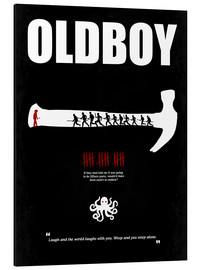 Aluminium print  oldboy - Minimal Film Movie Poster Alternative - HDMI2K