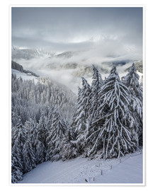 Premium poster Winter in Valle Aurina (South Tyrol, Italy)