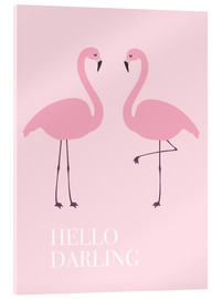 Acrylic print  Hello Darling Flamingo - Finlay and Noa