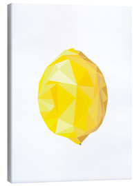 Canvas print  Polygon lemon - Finlay and Noa