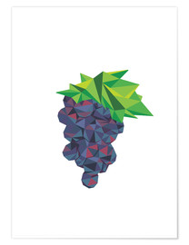 Premium poster  Polygon grapes - Finlay and Noa