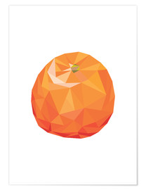 Premium poster  Polygon orange - Finlay and Noa