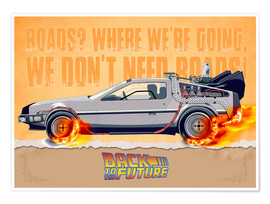 Premium poster  Back to the Future - DeLorean DMC-12 Alternative - HDMI2K