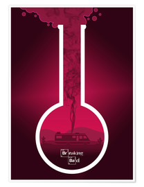 Premium poster Breaking Bad - Fanart version in Pink Alternative