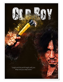 Premium poster Oldboy - Minimal Movie Movie Fanart Alternative