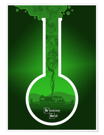 Premium poster Breaking Bad - Fanart version in green Alternative