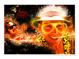 Premium poster  Fear and Loathing in Las Vegas - Movie Film Alternative - HDMI2K