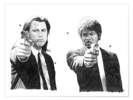 Poster  PULP FICTION alternative movie art - Cultscenes