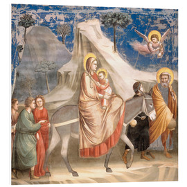 Foam board print  The Flight to Egypt - Giotto di Bondone