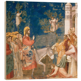Wood print  The Entry into Jerusalem - Giotto di Bondone