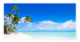 Premium poster Beach panorama with turquoise sea