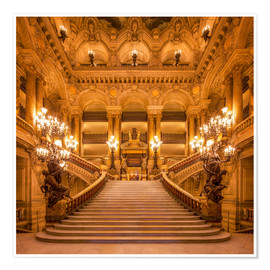 Premium poster Staircase of the Opera Garnier in Paris France