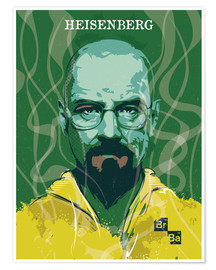 Poster  alternative heisenberg breaking bad portrait design - 2ToastDesign
