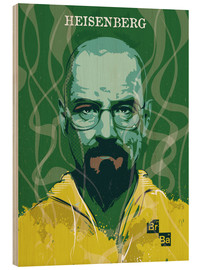 Wood print  Heisenberg, Breaking Bad - 2ToastDesign