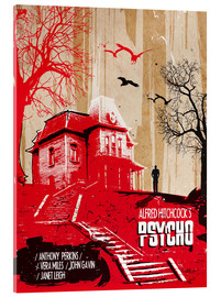 Acrylic print  Alfred Hitchcock's, Psycho - 2ToastDesign