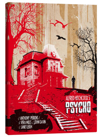 Canvas print  Alfred Hitchcock's, Psycho - 2ToastDesign