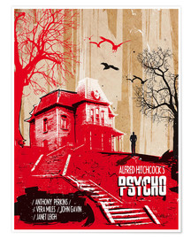 Premium poster Alfred Hitchcock's, Psycho