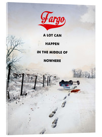 Acrylic print  alternative fargo retro movie poster - 2ToastDesign