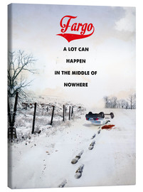 Canvas print  alternative fargo retro movie poster - 2ToastDesign