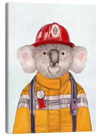 Canvas  Koala Firefighter - Animal Crew