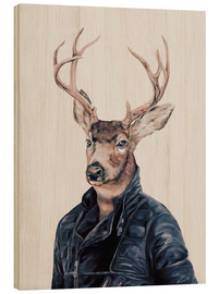 Wood print  Deer - Animal Crew