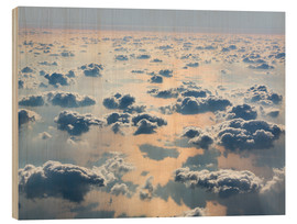 Wood print  Above the clouds
