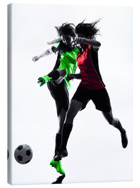 Canvas print  two soccer players