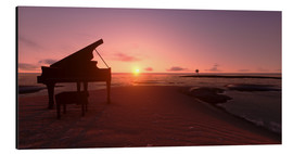 Aluminium print  Piano on the beach