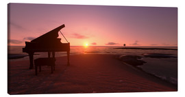 Canvas print  Piano on the beach