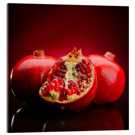 red pomegranate fruits