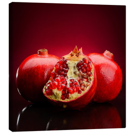 Canvas  red pomegranate fruits