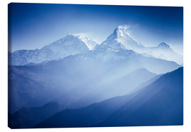 Canvas print  Annapurna mountains in sunrise light