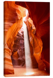 Canvas print  Sunbeam in Antelope Canyon, Arizona
