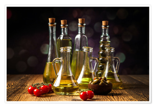 Premium poster Oils and spices