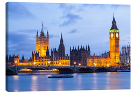 Canvas print  Big Ben and Westminster Bridge, London