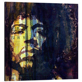 Aluminium print  Jimmy Hendrix - Paul Lovering