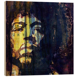 Wood print  Jimmy Hendrix - Paul Lovering