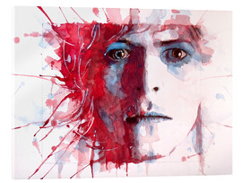 Acrylic print  The prettiest star : David Bowie - Paul Lovering Arts