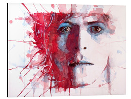 Aluminium print  The prettiest star : David Bowie - Paul Lovering