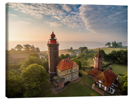 Canvas print  Dahme Lighthouse Baltic Sea Aerial View - Dennis Stracke