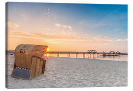 Canvas print  Kellenhusen Pier beach chair Baltic - Dennis Stracke