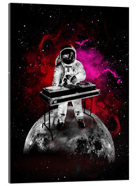 Acrylic print  alternative space astronaut dj art poster - 2ToastDesign