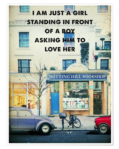 Premium poster Notting Hill movie poster (retro)