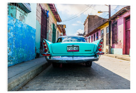 Foam board print  Oldtimer in Cuba - Reemt Peters-Hein