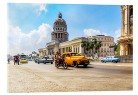 Acrylic glass  Havana Capitol with Oldtimer - Reemt Peters-Hein