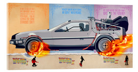 Acrylic glass  Back to the Future - DeLorean trilogy Alternative Fanart - HDMI2K
