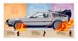 Poster Back to the Future, DeLorean