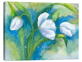 Canvas  white tulips - Jitka Krause