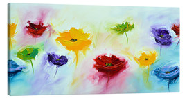 Canvas print  Flowers colorful - Theheartofart Gena