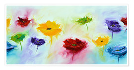 Premium poster Flowers colorful